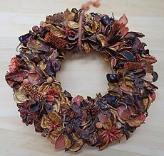 Dekorácie - jesenny veniec - 8487743_