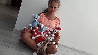 Hračky - macíkovia mäkkučký- ružový - 8489942_