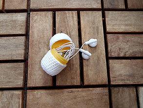 Iné doplnky - Háčkované vajíčko na drobnosti - 8489381_