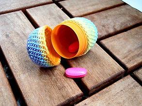 Drobnosti - Háčkované vajíčko na drobnosti melírované - 8489441_