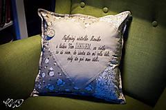 Úžitkový textil - Vankúšik pre pani učiteľku No.10 - 8492059_