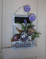 romantická záhradka na zavesenie