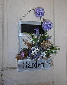 Dekorácie - romantická záhradka na zavesenie - 8490542_