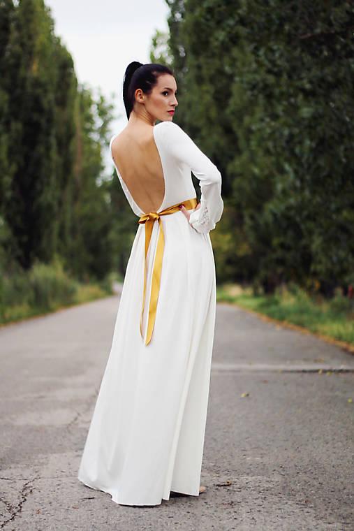 Šaty - Dlhé s riasenými rukávmi - 8491028  1a0d2c73957