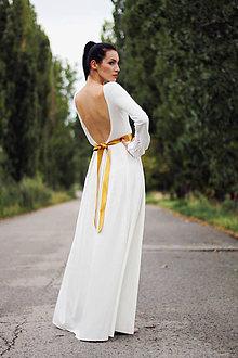 Šaty - Dlhé s riasenými rukávmi - 8491028_