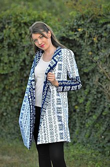 Kabáty - Biely čičmanský plášť - 8491953_
