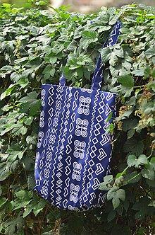 Veľké tašky - Modrá čičmanská taška - 8492089_