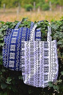 Nákupné tašky - Biela čičmanská taška - 8492158_