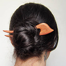 Ozdoby do vlasov - Drevená spona do vlasov - 8492055_