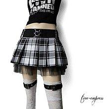 Sukne - Károvaná čierno biela sukňa do školy - 8492401_