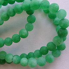 Minerály - Jadeit matný 4mm-1ks (zelená) - 8492498_