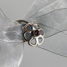Prstene - Prsteň kvet so swarovski - 8492712_