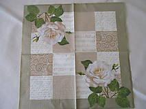 Papier - Servítka Biela ruža - 8491462_