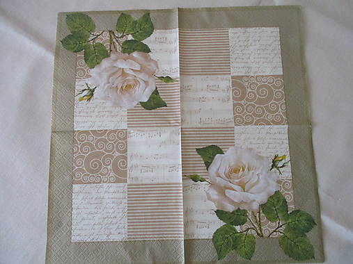 Servítka Biela ruža