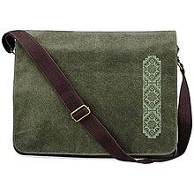 Veľké tašky - QUADRA, Taška na rameno, vintage zelená, Bzovík - 8491885_