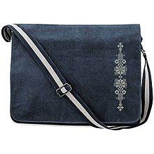 Veľké tašky - QUADRA, Taška na rameno, vintage modrá, Kútna plachta - 8491916_