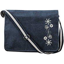 Veľké tašky - QUADRA, Taška na rameno, vintage modrá, Jablonica - 8491935_