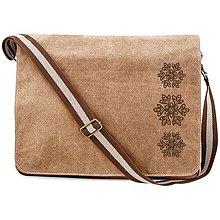 Veľké tašky - QUADRA, Taška na rameno, vintage piesková, Jablonica - 8491993_
