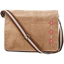Veľké tašky - QUADRA, Taška na rameno, vintage piesková, Šoporňa - 8492009_