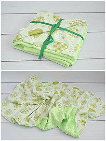 Úžitkový textil - Minky deka v zelenom - 8492628_