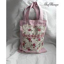 Nákupné tašky - Nákupná látková ružová taška - 8492172_