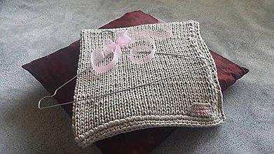 Textil - Detská pletená deka na chladnejšie dni do kočíka i postieľky - 8490508_
