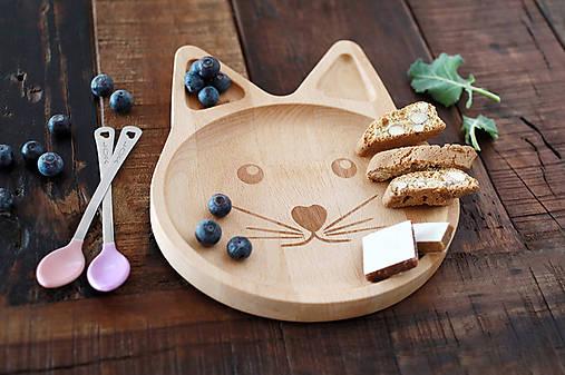 Detské doplnky - Drevený tanierik pre deti s motívom - Mimi - 8491223_
