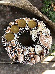 Dekorácie - Adventný veniec Vanilka so škoricou VÝPREDAJ - 8493080_