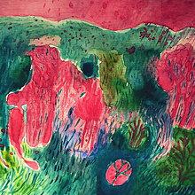 Kresby - Ružové ráno na Korzike - 8491328_