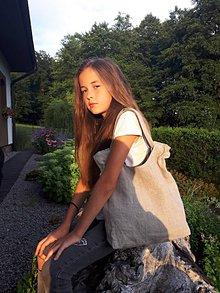 Kabelky - Ľanová taška Gris/Nature - 8492919_