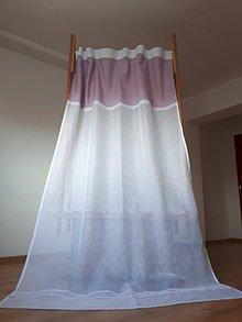 Úžitkový textil - Ľanový záves Romantic Roses - 8492931_