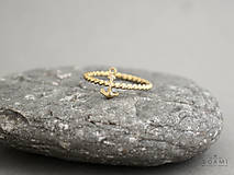 14k / 585 zlatý prsteň kotva