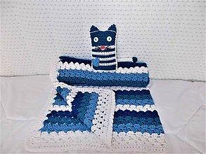 Textil - Detská deka /55x70 cm/ s hračkou - 8494839_