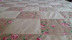 Úžitkový textil - Prehoz s vintage ružami - 8495107_
