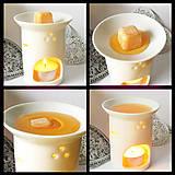 Svietidlá a sviečky - Pomaranč - vonný vosk - silica - 8496270_
