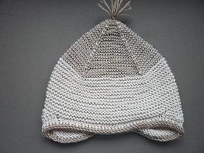 Detské čiapky - pletená čiapka - 8495079_
