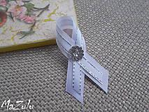 Pierka - svadobné pierko biela & strieborná - 8496529_