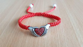 Náramky - Náramok srdce na dlani - 8496588_