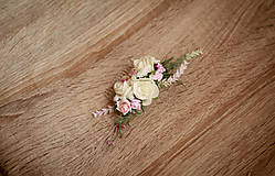 Ozdoby do vlasov - Kvetinový hrebienok do vlasov - 8494648_