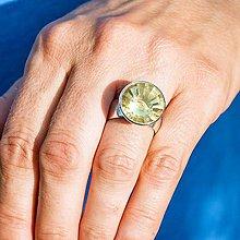 Prstene - Strieborný prsteň - Pozerám - 8495375_