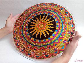 Dekorácie - Etno Mandala Dobrej Nálady (priemer 40cm) - 8494055_