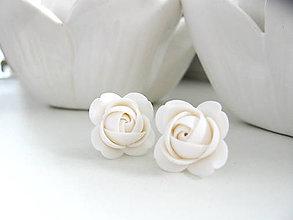 Náušnice - White, náušnice - 8493252_