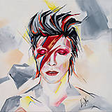 - Obraz David Bowie, 50 x 50 cm, akryl na plátne - 8493664_