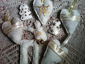 Dekorácie - Zlatá vianočná voňavá kolekcia- 7 ks - 8493331_