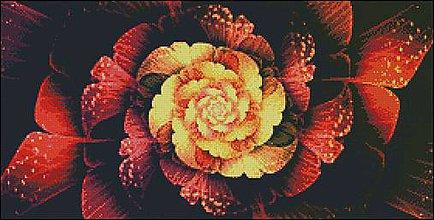 Návody a literatúra - M031 Abstrakt Kvet - predloha na krížikovú výšivku - 8493382_