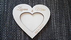 Prstene - Drevený podnos na obrúčky - spoločné srdce - 8493494_