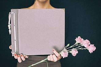 Papiernictvo - Fotoalbum klasický, papierový obal šedý so štruktúrou - 8494436_