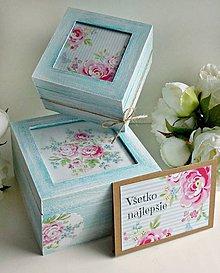Krabičky - Drevené krabičky/gratulačná karta - 8495791_