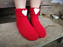 Obuv - Červené ponožky - 8495391_
