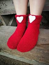 Obuv - Červené ponožky - 8495394_